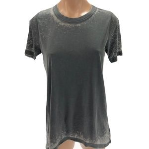 CHASER S Small T-shirt Burnout Gray Cotton Blend